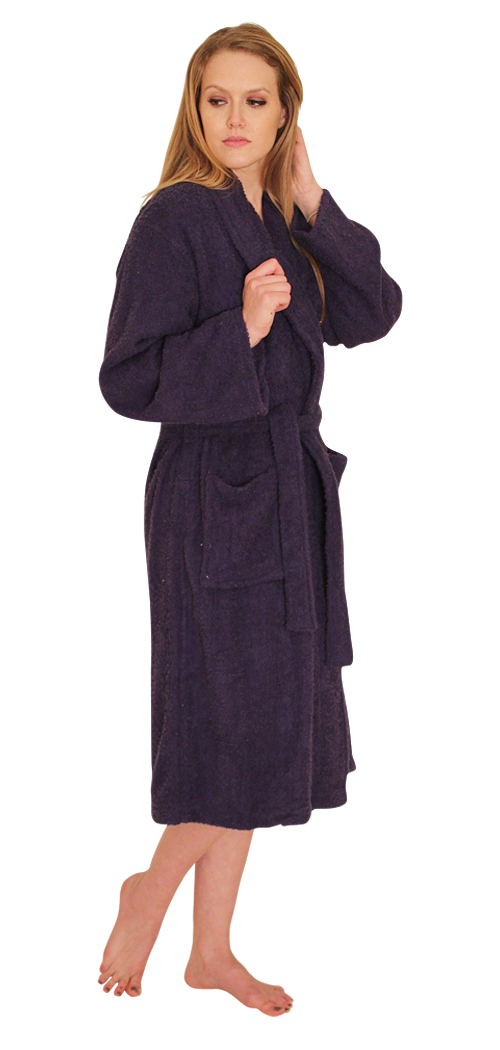 NDK New York Women's and Men's Terry Cloth Bath Robe 100% Cotton at Sears.com