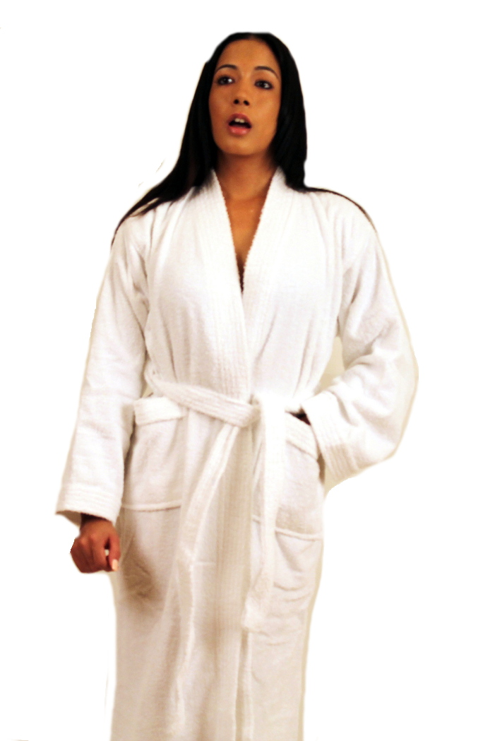 NDK New York Terry Cloth Kimono Bath Robe Unisex 100% Cotton at Sears.com