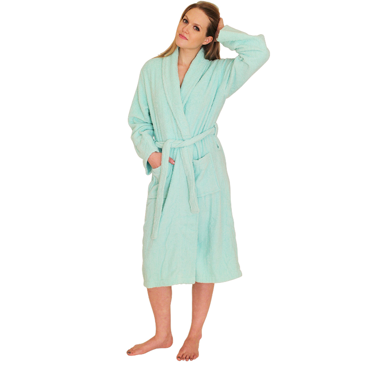 Bathrobe TerryCloth (Terry cloth) Bath Robe for women- $34.99 Colors: Ecru-S/M Ecru-2X/3X(+$5) Fuschia-S/M Fuchsia-L/XL Fuchsia-2X/3X(+$5) Mint-S/M Mint-L/XL Mint-2X/3X(+$5) Navy-S/M Navy-L/XL Navy-2X/3X(+$5) Teal-S/M White-S/M White-L/XL White-2X/3X(+$5). Sizes: