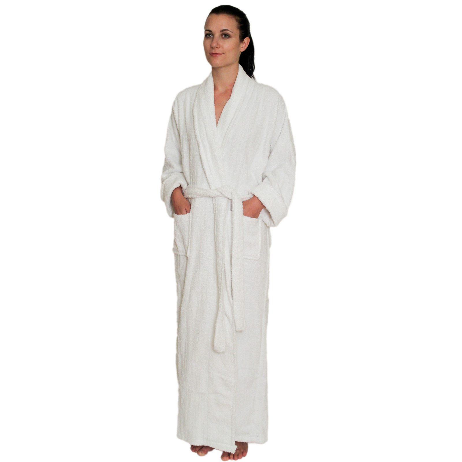 a688a9936b White · Full Length Terry Cloth Robe Long Sleeves 100% cotton  49.99  Colors  Mint-2X Mint · Full ...