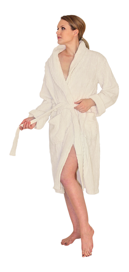 NDK New York Chenille Robe Mid-Calf Length Wide Ribbed at Sears.com