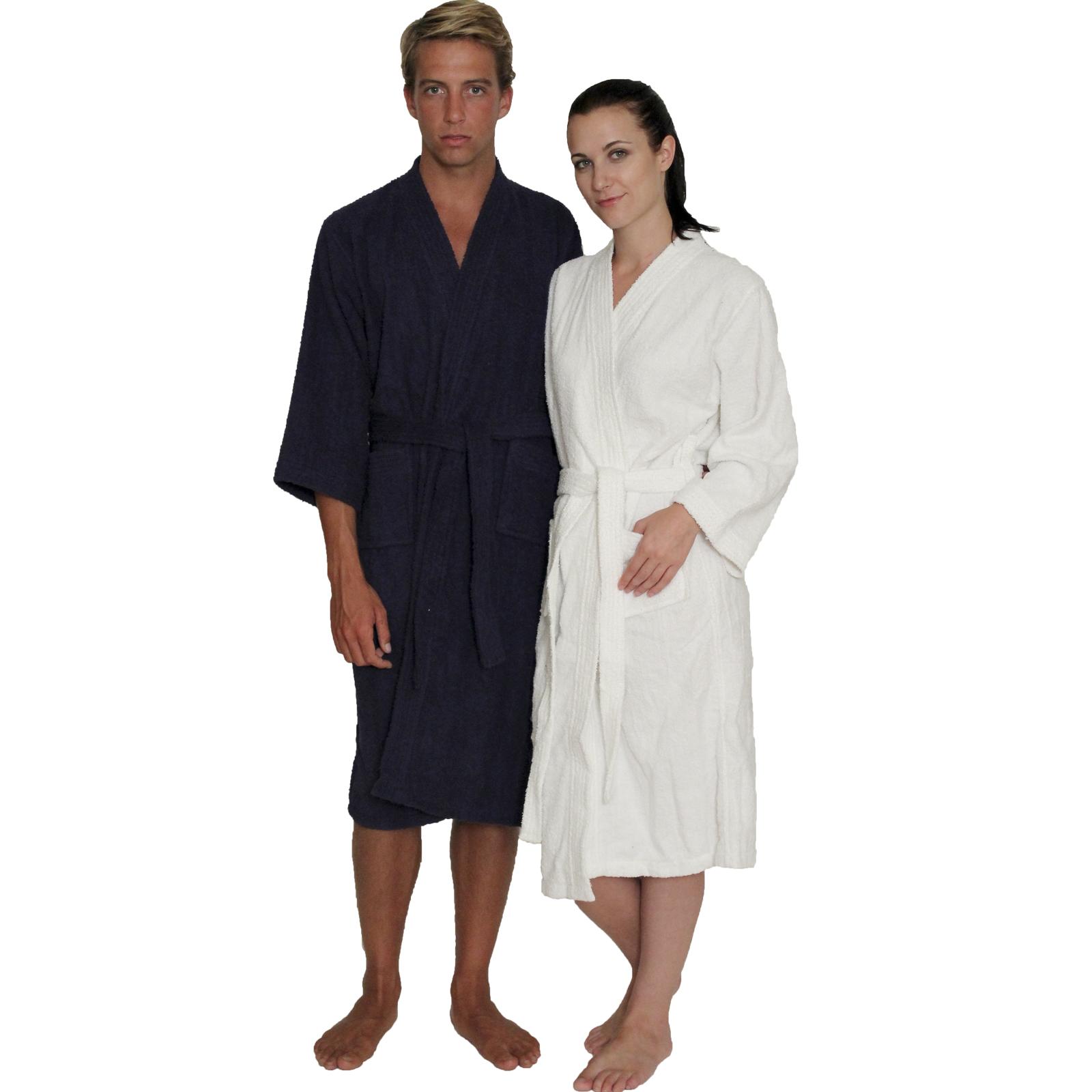 ec98f8bb5e Men s and Women s Terry Cloth Kimono Robe 100% cotton