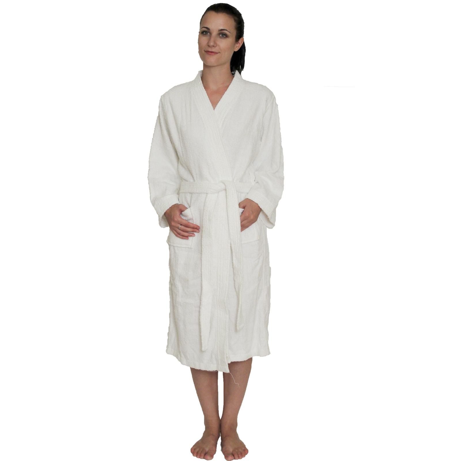 White · Men s and Women s Terry Cloth Kimono Robe 100% cotton Colors   Mint-2X  White · Men s and Women s ... 049aefbdb