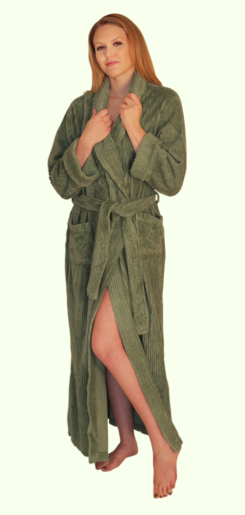 Womens Full Length Wide Ribbed Chenille robe- $59.99 Colors: Fuchsia-S/M Fuchsia-L/XL Fuchsia-Plus(+$5)  Teal-S/M Teal-L/XL Teal-2X/3X(+$5) White-S/M White-L/XL White-Plus(+$5) Lilac-S/M Lilac-L/XL Lilac-2X/3X(+$5). Sizes: