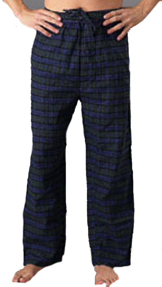 Men&#39;s Pajamas & Loungewear: Flannel Pants  - $12.99 Colors: Blackwatch Gray-Check Blue-Plaid. Sizes:  out of stock ... <p>This 100% cotton men&#39;s flannel pant is ideal for loungewear and sleepwear, both for men and wo