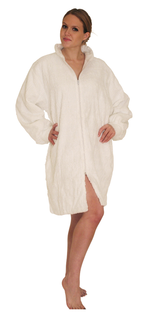 Chenille Robes: Women's Zip - $24.99 Colors: White. Sizes:  Regular