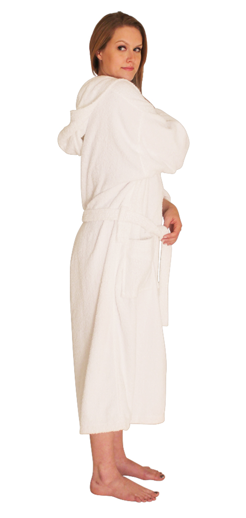 Hooded Terry Cloth Robefor 39 99 Long Sleeves Mid Calf Length