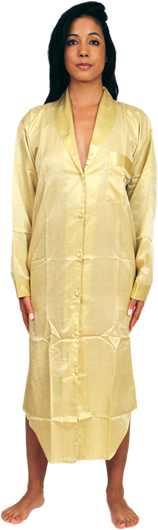 Satin Nightshirt With Button Front 25