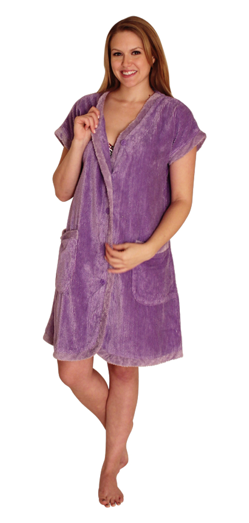 Chenille Robe With Contrast Facing And Cuffs For 24 99