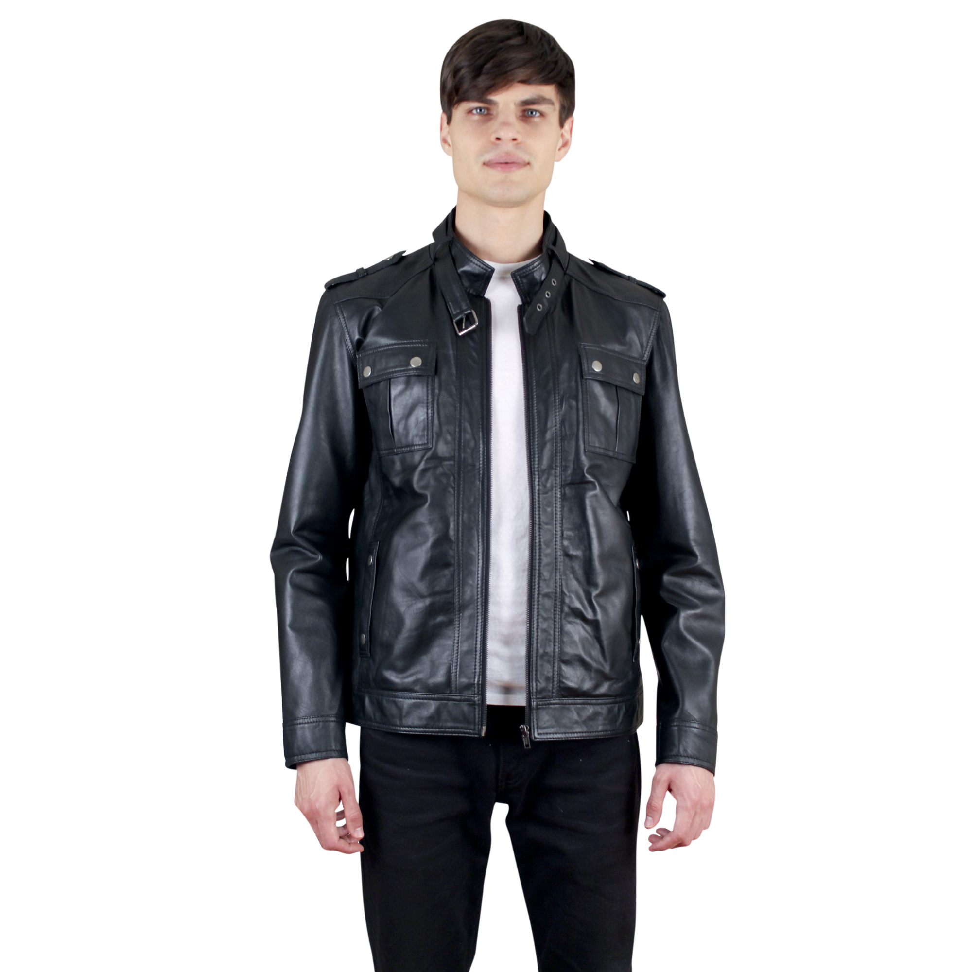 Colors: black. Sizes:  XXS XS S M L XL XXL ... The NDK New York Men�s Moto Jacket is for raw and trendy men. With its metal-studded pocket flaps and
