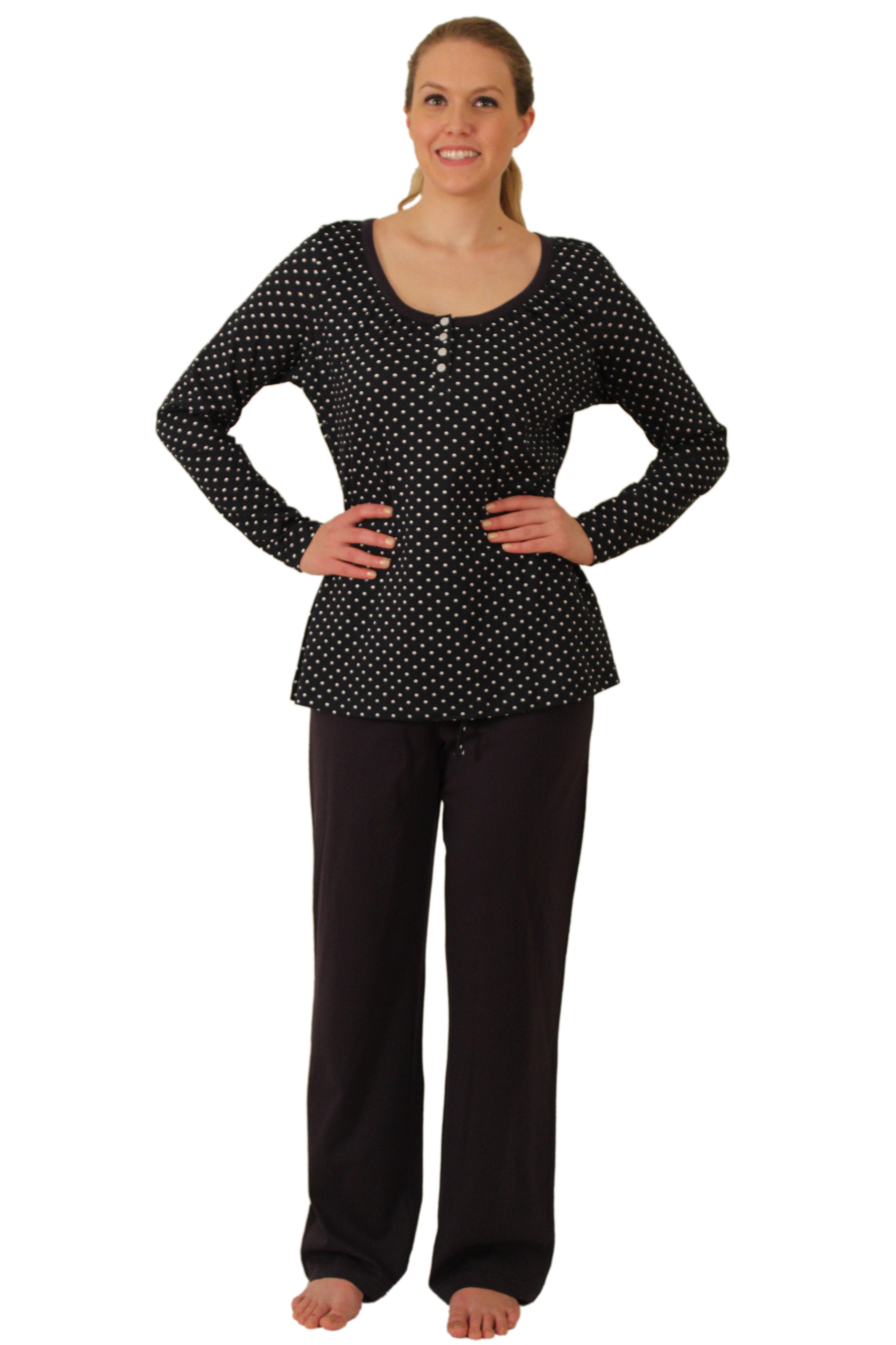 Apparelny Knit Women S Missy Pajama Set With Scoop Neck