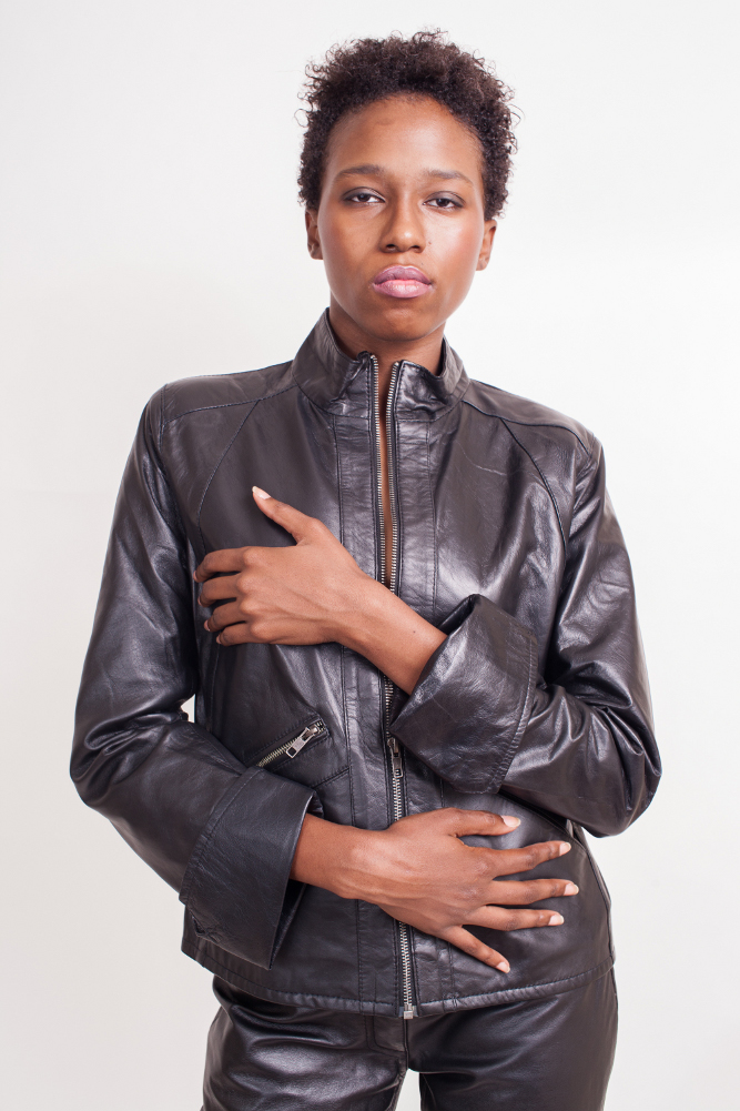 Leather Jacket Elegant Style Lambskin Jacket $150 Colors: Black. Sizes:  XS S M L XL 2XL(+$25)  3XL(+$30) ... Fashionably forward in leather trends, butter soft leather, hipster wasit length lambskin jacket for