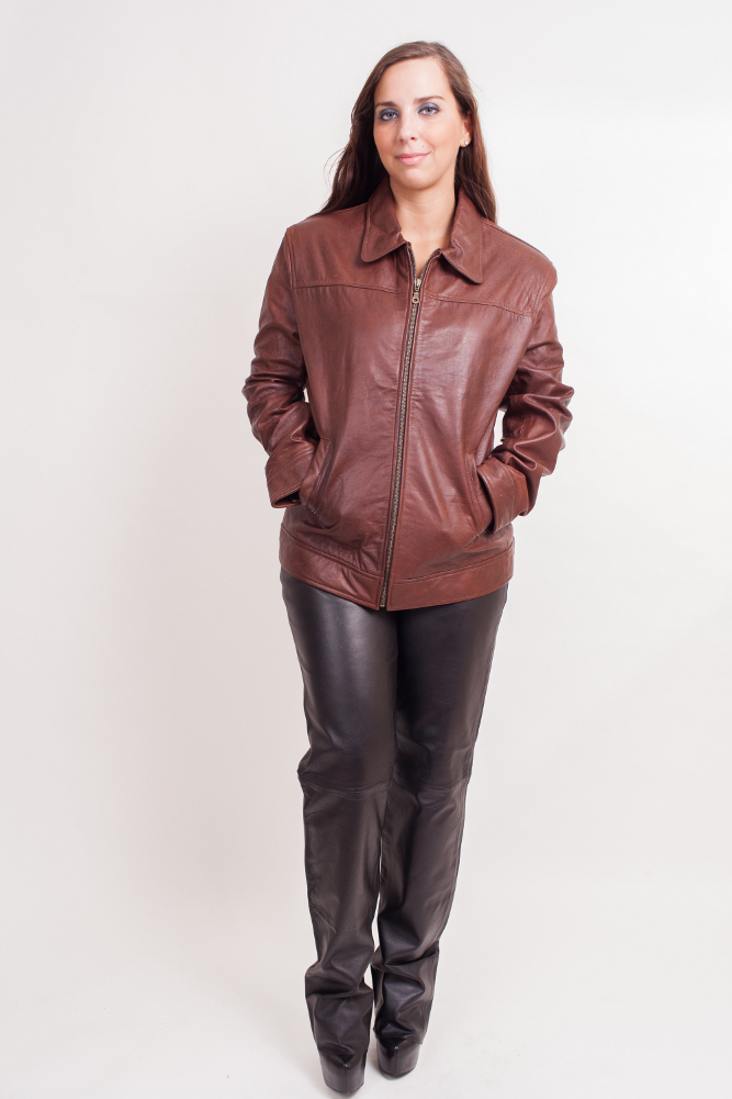 Leather Jackets CLEARANCE SALE FOR $120: Women's Lambskin Leather Jacket (Leather Clothing) Colors: Brown. Sizes:  X-Small Small Medium Large X-large 2XL(+15)