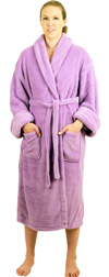 Women's Ultrasoft Plush Fleece (Coral Fleece) Robe - $29.99 Colors: Lavender Navy White. Sizes:  S/M L/XL 2X/3X     This coral fleece robe is made from the finest quality yarn providing it a very plush feel. The fabri