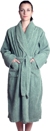 Chenille Robe Mid-Calf Length Wide Ribbed - $49.99 Colors: White-S/M SeaGreen-L/XL Teal-L/XL White-L/XL White-2X/3X. Sizes: