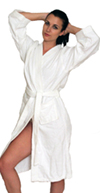 Men's and Women's Terry Cloth Kimono Robe  100% cotton - $29.99 Colors: Mint-2X/3X Mint-L/XL Mint-S/M Navy-2X/3X Navy-L/XL Navy-S/M Pink-2X/3X Pink-L/XL Pink-S/M Teal-2X/3X Teal-L/XL Teal-S/M White-2X/3X White-L/XL White-S/M. Sizes: