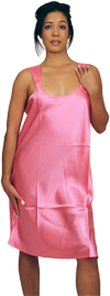 Satin Gown (Nightshirt) Solid Color Colors: Wine. Sizes:  Small     This solid color satin gown for women compliments our womens nightwear and loungewear line. Designed