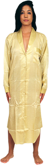 Satin Nightshirt with button front  - $25 Colors: gold pink. Sizes:  Small Medium Large X-Large 2XL 3XL     The accompanying picture says its all. This womens nightshirt is full length with five evenly spaced