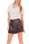 Women's Lambskin Leather Skort  - $65 Colors: Black Brown. Sizes:  Medium Large X-Large 2XL (+$10)     Women's lambskin skort ( a combination of short and skirt.The lambskin is of very high quality, a