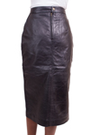 Women's Lambskin Lether Skirt (Calf Length) Colors: Black. Sizes:  X-Small Small Medium Large X-Large     Women's calf length long lambskin leather skirt is 28 inches long. A very elegant skirt suitable