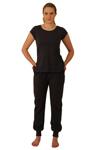 ApparelNY Stylish Knit Pajama Set with Stylish Tee-shirt and Cuffed Pants -$19.99 Colors: Floral Polkadots Solid. Sizes:  XS S M L XL