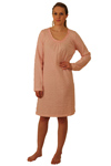 ApparelNY Knit Nightshirt-Gown, Printed 100% Cotton Jersey Knee Length - $15.99 Colors: Floral Polkadots Solid. Sizes:  XS S M L XL