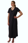"ApparelNY Cotton Jersey Printed Night Shirt-Gown 52"" Length $15.99 Colors: Floral Polkadots Solid. Sizes:  XS S M L XL"