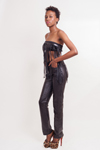 Womens Lambskin Leather Pants (Jeans)  - $99 - High Waisted Colors: Black Brown. Sizes:  XXS XS S M  XL 1X-36(+$10) 1X-38(+$15) 2XL(+$20)