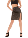 Women's Lambskin Leather Skirt Knee Length - $85 Colors: Black. Sizes:  Medium Large X-Large 2XL (+$10)     <p>A very elegant skirt suitable for wearing at parties or outdoors. 100% nylon lining inside. </p>
