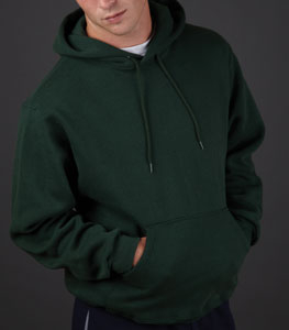fruit of the loom super cotton cotton-rich hooded sweatshirt for 23.54 Colors: Athletic-Heather Black Forest-Green J-Navy. Sizes:  S M L XL 2XL(+$2)     82130m - fruit of the loom super cotton. 12 oz. 70% cotton/30% polyester. two-ply hood with matching