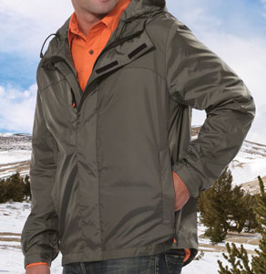 timberland eco tech shell jacket for 62.04 Colors: Black Mykonos-Green Spring-Red. Sizes:  S M L XL 2XL(+$2)     010m - timberland. nylon rip stop fabric. helmut hood construction. covered zippers. contrast color s