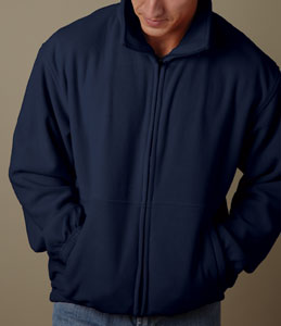 weatherproof therma fleece zip jacket for 26.06 Colors: Black Charcoal Navy. Sizes:  S M L XL 2XL(+$2)     5001m - weatherproof. 7 oz. polyester. matching inner collar, zipper and trim. two front zip pockets.